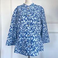 Chico's Cloud Print Joliette Jacket Womens Sz 3 XL/16 3/4 Sleeve NEW