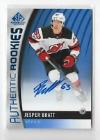 2017-18 Sp Game Used Hockey Jesper Bratt Authentic Rookie autograph NJ DEVILS