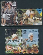 1988 TUVALU INDEPENDENCE 10th ANNIVERSARY SET OF 4 FINE MINT MNH SPECIMEN OVPT