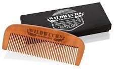 Wildwuchs Bartpflege - Bartkamm/Holzkamm aus Birnbaumholz zur Pflege mit Bartöl