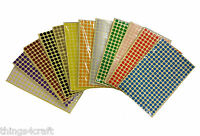 8mm Coloured Dot Stickers Round Sticky Adhesive Spot Circles Paper Labels