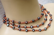 Halsketten mit Schönheits echten Edelsteinen aus Sterlingsilber