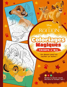 Disney Lion King Magic Adult Colouring Book French Colour By Number Mystery