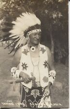 Real Photo Postcard RPPC Indian Chief from Michigan