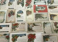 ~TRUE VINTAGE WHITNEY~CHRISTMAS COLLECTION~LOT of 25 XMAS POSTCARDS--s607