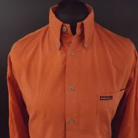 Marlboro Classics Mens Vintage Shirt XL Long Sleeve Orange Classic Fit Cotton