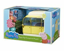 Peppa Pig - Peppa Pig's Campervan Yellow Playset 4x Family Figures + Accessories