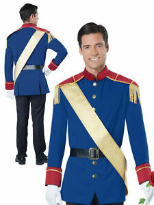 Mens Prince Charming Costume Adults Fairytale Fancy Dress Book Week Day Outfit