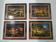Lot Of 4 Terry Redlin Plaques