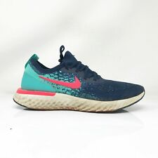 Nike Mens Epic React AR5413-400 Blue Red Running Shoes Lace Up Low Top Size 11