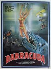 BARRACUDA - FISH JAWS / SCUBA DIVING / SUBMARINE - ORIGINAL FRENCH MOVIE POSTER