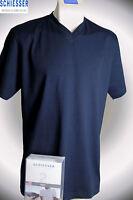 4 Schiesser American T-Shirts , dunkelblau, V-Ausschnitt, Größe M/5