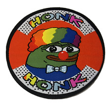 Honkler the Clown Frog Woven Patch, Pepe Honk Honk Rainbow Kekistan 4chan