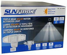 SUNFORCE 180 LED Triple Head Solar Motion Activated Security Light Model 82183