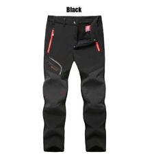 Mens Windproof Waterproof Trekking Pants Cargo Work Thick Skiing Hiking Trousers