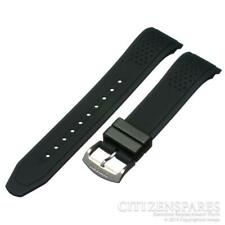 Genuine Citizen Watch Band f/ Eco-Drive CA0421-04E CA0420-07E Black Rubber Strap