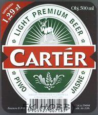Poland Brewery Lublin Carter Beer Label Bieretikett Cerveza lu63.1