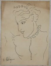 Ink drawing signed HENRI MATISSE