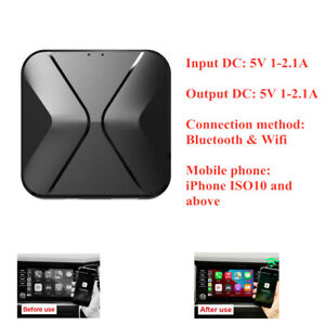 Voice Touch Control Wireless Carplay Adapter Box BT Dongle Navigation For IOS