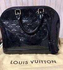 Louis Vuitton Alma Handbag Monogram Vernis PM Navy