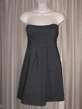 S TABOGA Gray Striped Corset Strapeless Bubble Pencil Formal Dress Work Wearing