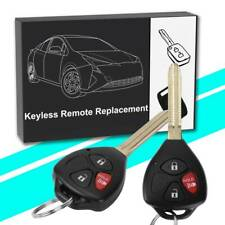 2 For Toyota Yaris Scion TC 2007 2008 2009 2010 Keyless Car Remote Uncut Key Fob