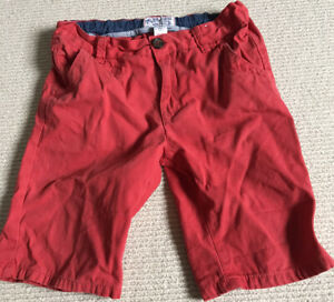 Boys Red Shorts Age 8 Tu, Adjustable Waist