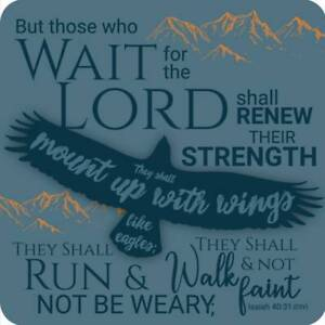 Eagles Wings Coaster Ideal Christian Gift Birthday Christmas Bible Verse
