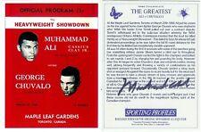 Muhammad Ali Signed Sporting Profiles Program Cover Trading Card Auto COA Chuval