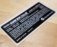 """Nintendo Game Boy Color """"Made In Japan"""" Replacement Console STICKER LABEL ONLY"""
