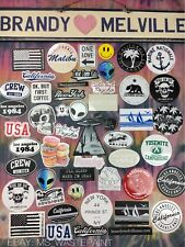 HUGE!! Lot Of 50 Brandy Melville Deco Vinyl Laptop Stickers Set Decals Bundle