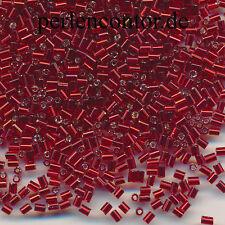 Stiftperlen  25 g  rot Silberblatt  2,5 mm  Preciosa Bugles Perlen (AZ1207)