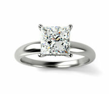 Certified Natural Diamond SOLITAIRE Wedding Engagement Ring 1.50 Carat D-VVS1
