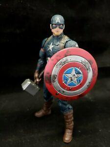 "Marvel Legends Avengers Endgame Worthy Captain America 6"" Action Figure Loose"