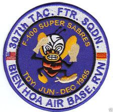 307TH TAC FTR SQ PATCH, TDY BIEN HOA JUNE - DEC 1965, F-100 SUPER SABRES       Y