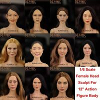 "Hot Toys KUMIK 1/6 Scale Female Head Sculpt For 12"" Action Figure Phicen Body"