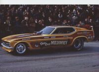 SHIRLEY MULDOWNEY FUNNY CAR  NHRA    8X12 DRAG RACING  PHOTO