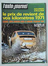 L AUTO JOURNAL - BIMENSUEL N° 1 - 7 JANVIER 1971 *
