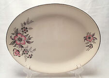 Queen Anne China Royal Monarch Serving Platter Pink Floral Holland 13""