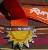 Too Hot To Handle 15K Run Finisher Medal Boerne City Lake Texas