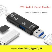 Micro SD USB TF OTG to USB 2.0 Adapter Card Reader For Android Phone Tablet PC