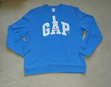 Mens  Gap logo sweatshirt Blue White UK Size XL BNWT