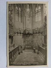 Edinburgh Vintage B&W postcard c1910 Thistle Chapel St Giles Cathedral