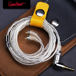 OPENHEART High Purity Sterling Silver Cable Litz MMCX Cable Earphone Replacement