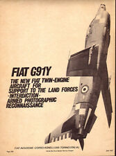 1967 vintage aircraft AD  FIAT G91Y Italian jet fighter attack plane 081515