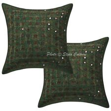 Handmade Cotton Pillow Case Cover Indian Decorative Throw Cushion Cover Pair