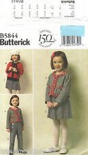 Butterick 5844 BP256*Girls Jacket-Cardigan-Pleated Skirt-Pants Pattern*2-5*FF
