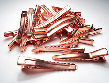 36 PCS.- COPPER COATED STEEL ALLIGATOR CLIP STYLE HAIR BARRETTES-M12