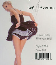 Leg Avenue Ruffle Back Rhumba Black & White Dance Panty Size Small/Medium