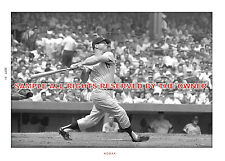 MICKEY MANTLE PHOTO BATTING IN  1961  FANTASTIC 5 X 7  New only 2 in stock